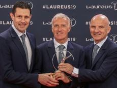 La Selección Francesa se llevó el Laureus al mejor equipo. AFP