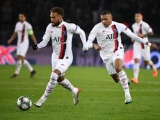 Neymar y Mbappé no podían faltar en la lista del PSG. AFP