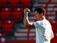 Lewandowski pudo haber fichado por el Madrid. AFP