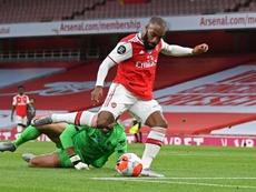 Lacazette può restare all'Arsenal. AFP