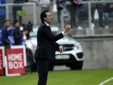 El 6-1 en el Camp Nou, la pesadilla de Emery. AFP