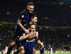 L'Inter est déjà concentré sur la Ligue des champions. AFP