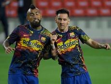 Vidal prefere Leo Messi. AFP
