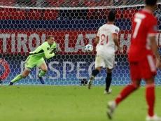 El Bayern rindió honores al Sevilla. AFP