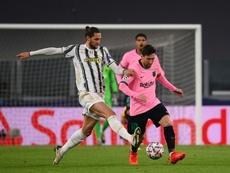 Messi lideró al Barça ante la Juventus y Vieri vibró con él. AFP