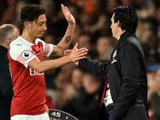 Emery não quer Özil no Arsenal. AFP