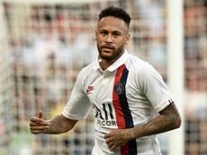 Neymar reapareció con el PSG. AFP