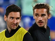Ni Dembélé ni Griezmann viven un buen momento en el Barcelona. AFP