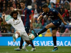 El Levante pierde a Duarte en el parón de selecciones. AFP