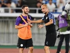 Bernardo Silva se confie sur la reprise de Premier League. AFP