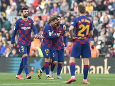 Griezmann scored for Barca in their victory over Getafe. AFP