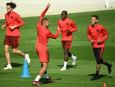 PSG train ahead of Liverpool match-up. AFP