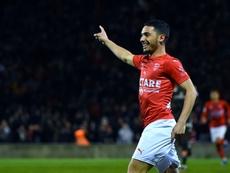 Les compos probables du match de Ligue 1 entre Nîmes et Angers. AFP