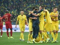 Ucrânia estraga a festa de Cristiano Ronaldo e bate Portugal com um a menos. AFP