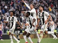 La Juventus y su posible nueva elástica. AFP