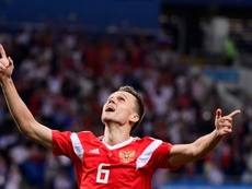 Cheryshev scored four times for Russia at the World Cup. AFP