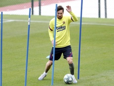 Messi si infortuna. AFP