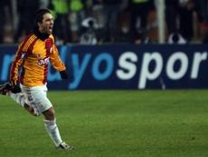 Arda Turan, en una anterior etapa en el Galatasaray. AFP