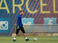 Neto will start the Champions League match v Inter instead of Ter Stegen. AFP