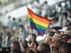 Con motivo del Día Mundial contra la Homofobia. AFP