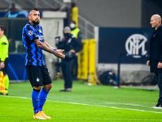 Vidal fica de fora da decisão contra o Shakhtar. AFP