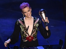 Rapinoe won the Ballon d'Or. AFP