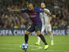 Vidal rompió su silencio sobre el Barça y el Inter. AFP