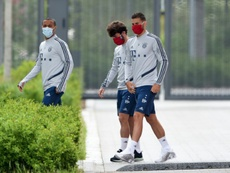 Lucas Hernández fecha as portas ao Real Madrid. AFP