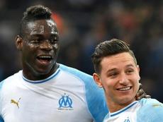 Duro rival para Balotelli: el 'culpable' del 40% de los goles del OM. AFP