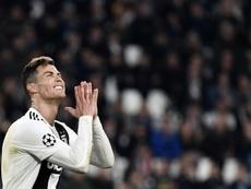 Cristiano no pudo solo contra el Ajax. AFP