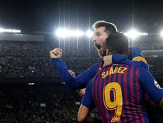 Messi e Suárez reeditam outro recorde artilheiro. AFP