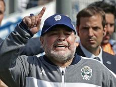 Boca paró todo para ver a Maradona. AFP