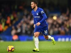 Le milieu de terrain de Chelsea Eden Hazard. AFP