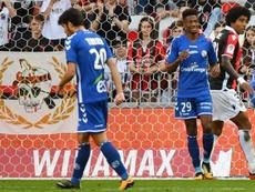 O Nice perdeu na receção ao Strasbourg, por 1-2. AFP