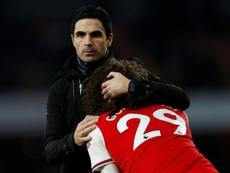 La pelea de Guendouzi con un compañero que acabó en castigo del Arsenal. AFP