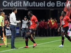 M'baye Niang hizo el empate a uno. AFP
