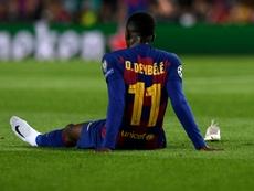 Dembélé se recupera em Catar. AFP