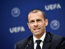 Janez Janša atacó a la UEFA. AFP