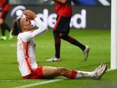 RB Leipzig deixou a liderança escapar. AFP