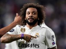 La plaga continúa: Marcelo, lesionado en el Madrid. AFP
