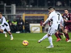 Ronaldo no falló desde los once metros. AFP