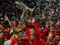Cristiano Ronaldo motivou os colegas a doarem prêmio ao futebol amador. AFP
