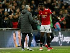 Mourinho alabó a Pogba. AFP