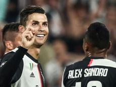 Cristiano Ronaldo a ouvert son compteur. AFP