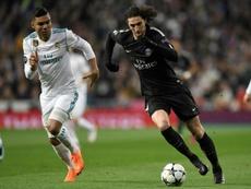 Rabiot foi amarelado no Bernabéu. AFP