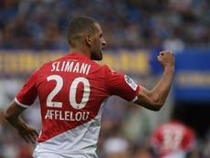 OFFICIEL : Islam Slimani débarque à l'Olympique Lyonnais. afp