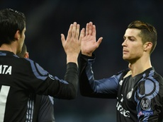 Morata will play Ronaldo's role in the game against Crotone. AFP