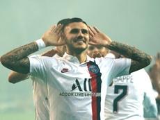 Thomas Tuchel se rindió al fútbol de Mauro Icardi. AFP