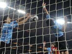 Remembering Suárez's handball against Ghana. AFP