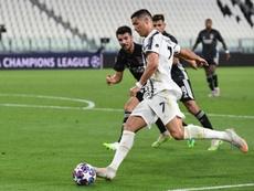 Cristiano cayó eliminado ante el Olympique de Lyon. AFP